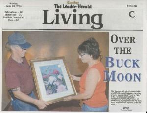 Leader-Herald_article-BuckMoonSun_06-29-14
